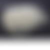145 perles rondes 6mm en verre nacré couleur ivoire