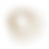 100 perles gouttes 6mm x 5mm en verre blanc et champagne