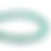 2 fils de 100 perles rondes 8mm 9mm en verre dépoli tacheté couleur vert