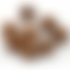 100 x perle ronde 16mm en bois couleur marron