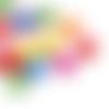 20 perles feuille 16mm x 14mm en bois couleurs mixtes