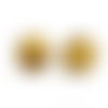 20 x perle ronde 25mm en bois couleur or