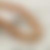 50 perles rondes 10mm en bois à rayures marron