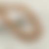 115 x perle rondelle 8mm x 4mm en bois à rayures
