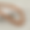 30 x perle ovale 15mm x 8mm en bois à rayures marron