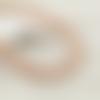 2 fils d'environ 100 perles rondes 6mm 7mm en bois rayé rouge