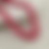 30 x perle ovale 15mm x 7mm en bois couleur rouge tacheté
