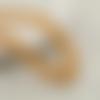 30 x perle ovale 15mm x 7mm en bois couleur jaune orangé tacheté