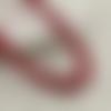 30 x perle ovale 15mm x 7mm en bois couleur rouge foncé tacheté