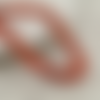 30 x perle ovale 15mm x 7mm en bois couleur rouge orangé tacheté