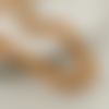 30 x perle ovales 15mm x 7mm en bois couleur orangé tacheté