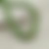 30 perles ovales 15mm x 7mm en bois couleur vert clair tacheté