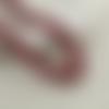 60 perles rondes 9mm 10mm en bois couleur rouge tacheté