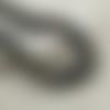 35 perles rondes 14mm en bois couleur noir tacheté