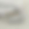 40 x perle ronde 12mm en bois couleur argent