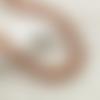 2 fils de 165 perles abaque 6mm 7mm en bois couleur marron à rayures