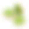 10 x perle fleur 30mm x 29mm en bois couleur vert