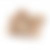 20 x perle ronde 18mm en bois couleur naturelle
