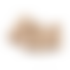20 x perle ronde 16mm en bois couleur naturelle