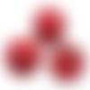 200 x perle ronde 12mm x 11mm en bois couleur rouge
