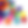 2000 x perle rondelle 6mm multicolores en bois