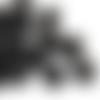 1000 x perle ronde 6mm en bois couleur noir