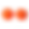 30 x perle polygone 20mm en bois couleur orange