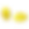 500 x perle rondelle 10mm en bois couleur jaune