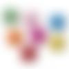 300 x perle tambour 10mm x 9mm multicolores en bois