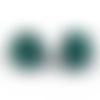 500 x perle ronde 8mm en bois couleur vert foncé