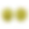 20 x perle polygone 20mm en bois couleur jaune