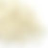 300 perles ovales 12mm x 8mm en bois couleur blanc ivoire