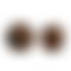 20 x perle polygone 20mm en bois couleur marron