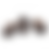 300 perles colonne 12mm x 8mm en bois couleur marron foncé