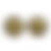 50 x perle ronde 16mm en bois couleur or