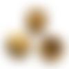 80 x perle ronde zébrée 6mm en bois couleur marron