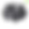 500 perles rondes 8mm en bois couleur noir