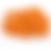 200 perles rondes 10mm en bois couleur orange
