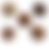100 x perle tonneau 17mm x 16mm multicolores en bois