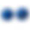 500 perles rondes 8mm en bois couleur bleu foncé