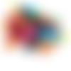 50 x perle tonneau 17mm x 16mm multicolores en bois