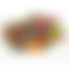 3000 perles rondes 4mm multicolores en bois