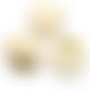 20 x perle ronde 25mm en bois couleur naturelle
