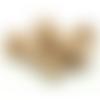 100 perles rondes 14mm en bois couleur naturelle