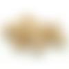300 perles rondes 10mm en bois couleur naturelle