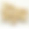 50 x perle ronde 20mm en bois couleur naturelle