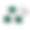 1 pendentif pierre de naissance en acier inoxydable argenté et strass vert
