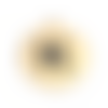 2 x pendentif alphabet lettre k 17mm x 15mm en acier inoxydable doré