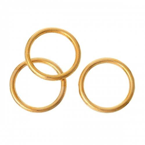 20 anneaux de jonction fermés 16mm en métal doré