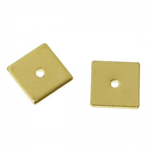 50 x perle carrée 8mm couleur doré